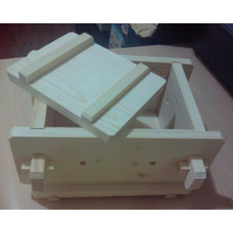 DIY 豆腐模具組原木附贈過濾紗布 說明書15 8 12 9cm 可拆卸豆腐框