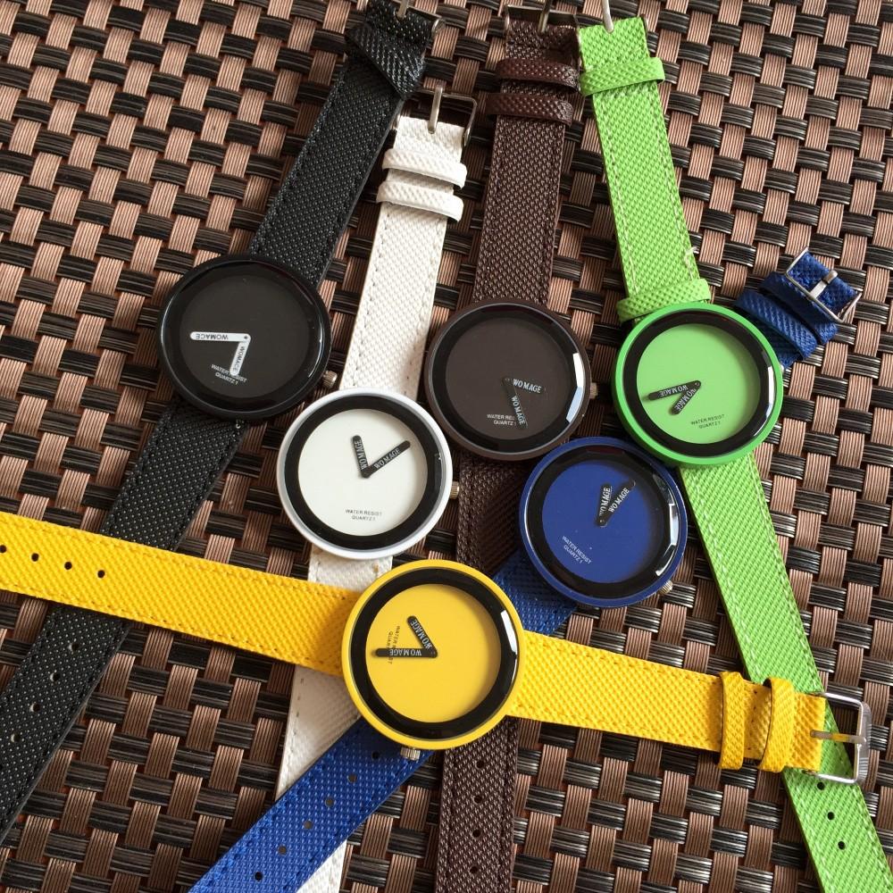 韓國 簡約小清新原宿風潮牌男女情侶閨蜜大錶盤糖果色 石英手錶