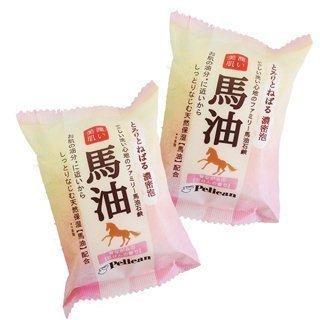 馬油美肌保濕香皂80g 2 濃密泡泡馬油美肌皂 製,潤膚保濕、防止肌膚乾裂