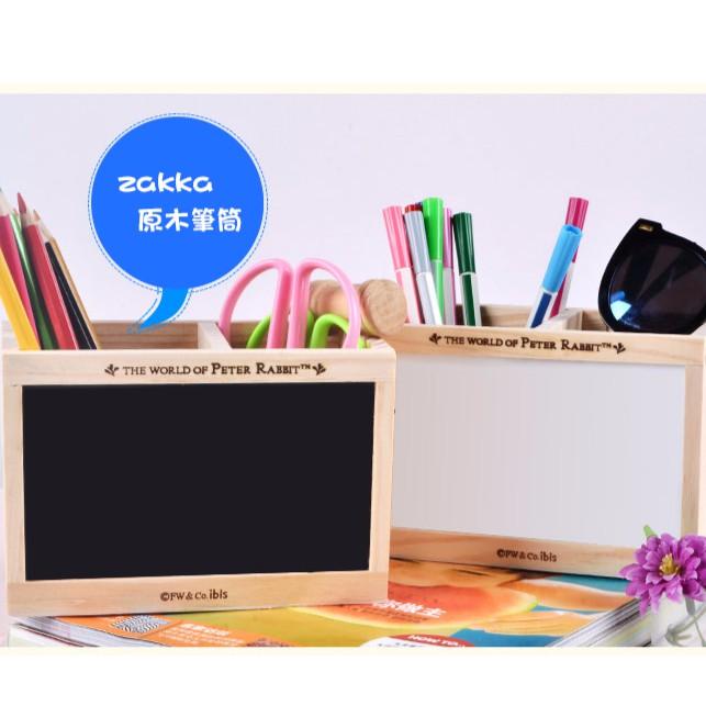 日式文具筆筒記事memo zakka 原木黑板白板筆筒
