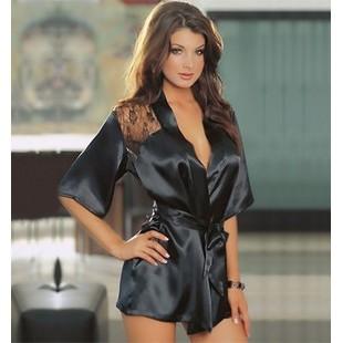 ❤LoVeHoMe ❤ 情趣! 性感透明蕾絲薄紗後背蕾絲角色扮演睡衣浴袍罩衫和服