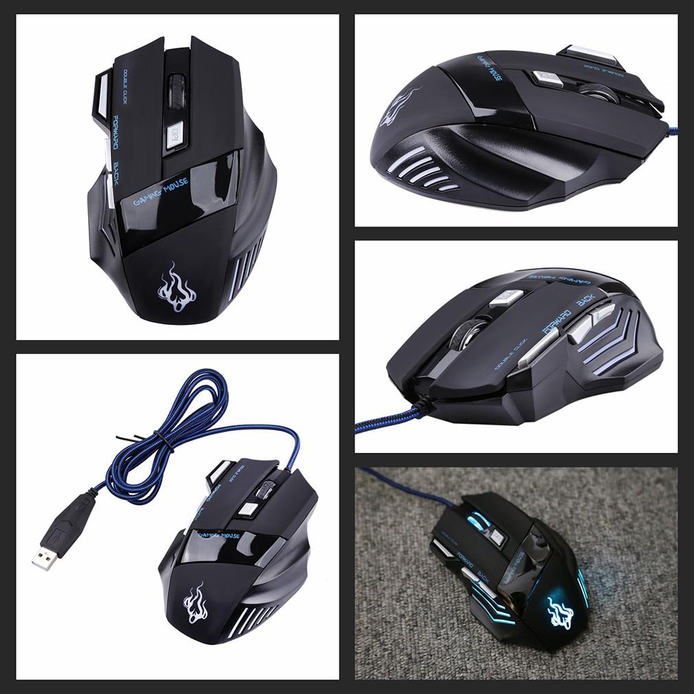 網友激推讚7 鍵五檔電競滑鼠巨無霸有線遊戲鼠標CS CF 5 段7200DPI 變速競技滑