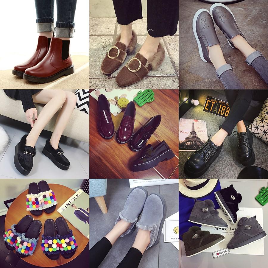 秋 學生黑色圓頭高跟馬丁靴英倫風裸靴女鞋厚底粗跟短筒短靴潮