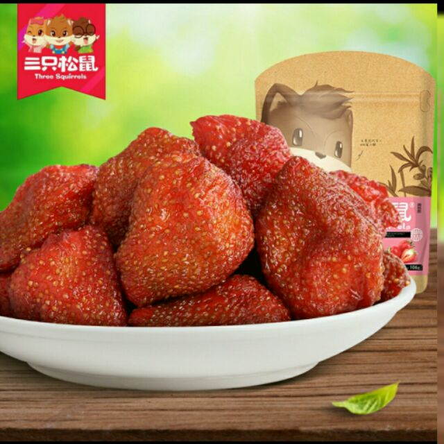 三隻松鼠草莓乾106g (03 09  )