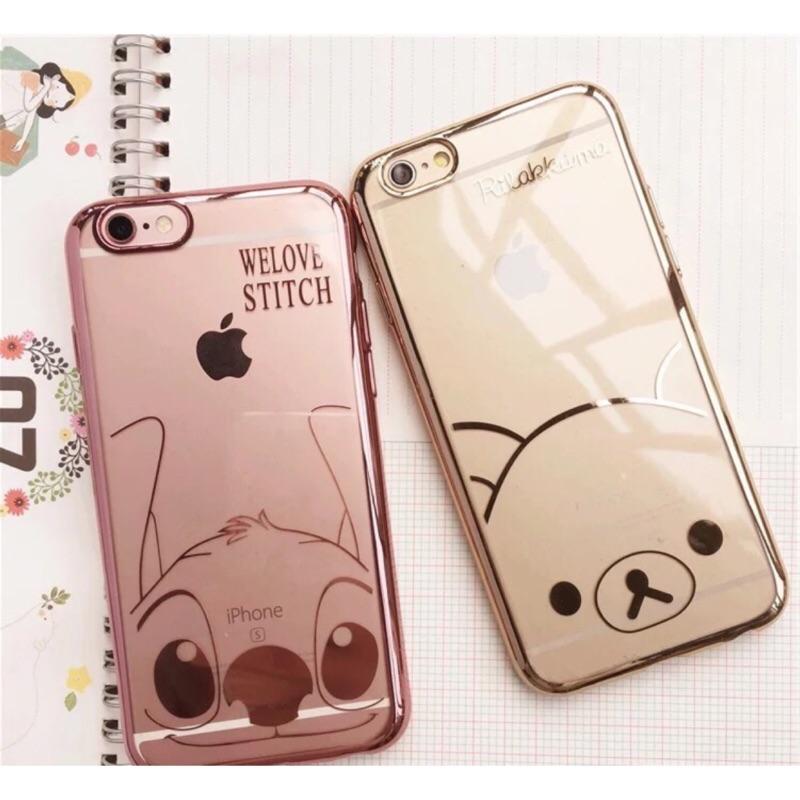 史迪奇拉拉熊iphone6 iphone6plus 電鍍手機保護套:手機殼
