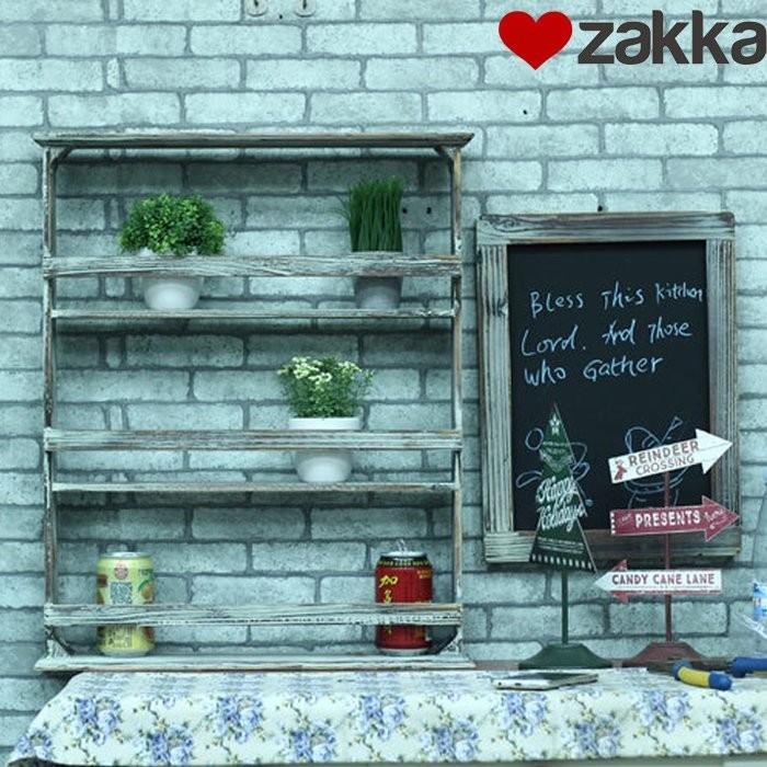 三層花架多肉植物免 置物架廚房調味罐架木製3 層小物收納展示架鄉村風民宿裝潢KSEV19
