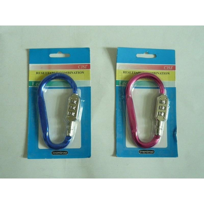登山扣帶密碼鎖的鋁合金登山扣,可廣泛用於箱包手袋鑰匙扣 廣告 黑紅 用途規格10 6 公分