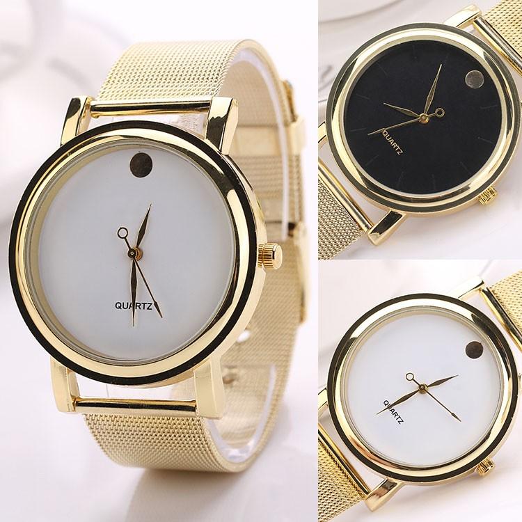 高雅氣質女性鋼帶手錶 女生石英錶腕錶銀色金色玫瑰金咖啡