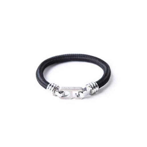 余文樂MEDNESS 救生繩數字手環簡單百搭黑銀兩色 情侶手鏈