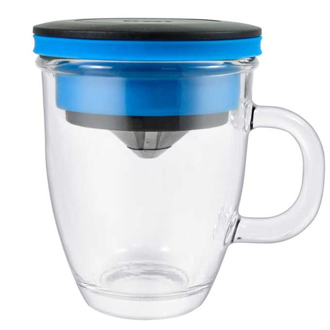 PO 不鏽鋼濾杯馬克杯組藍,等一個人咖啡免用濾紙經濟環保、簡單 隨行方便,享受手沖風味新選