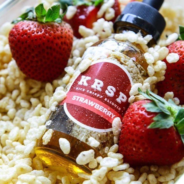 ~蒸氣果汁店~美國KRSP strawberry 草莓米餅草莓爆米花脆米餅60ml 大容量