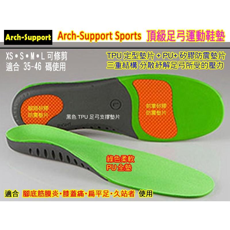~M 和L 號Arch Support 足弓機能鞋墊扁平足鞋墊足底筋膜炎˙吸壓減震支撐足弓