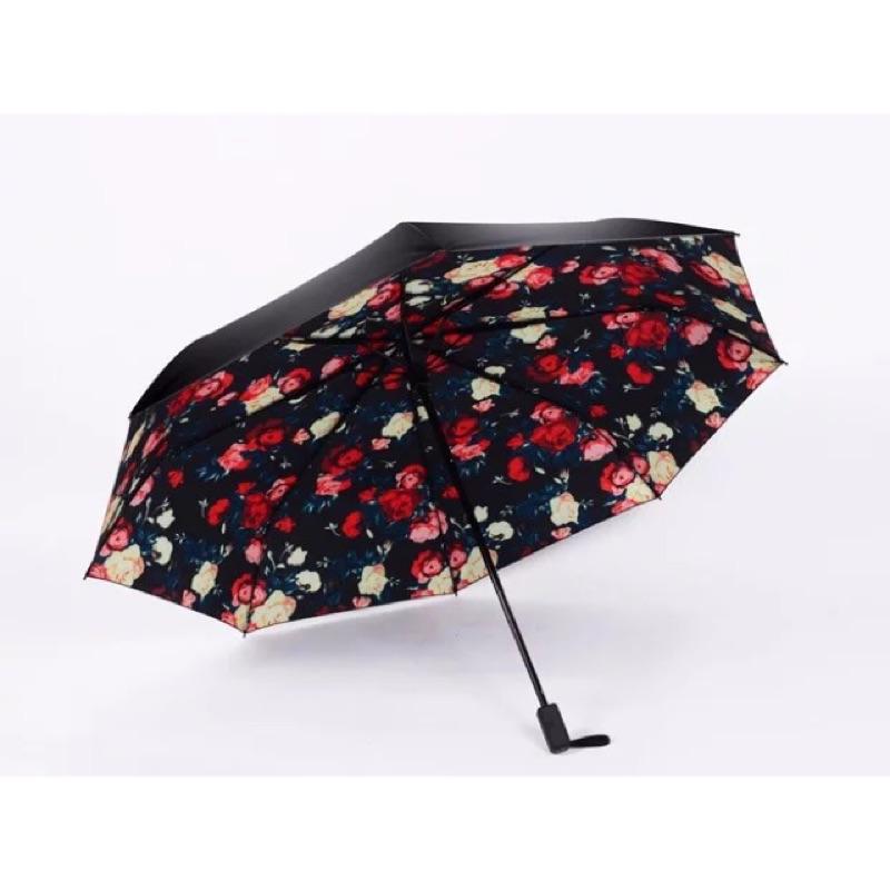 花花黑色雨傘陽傘