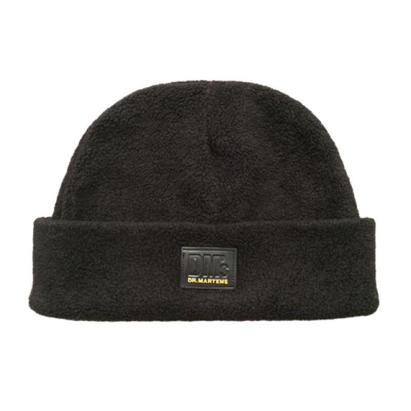 正品DM s DR MARTENS 英國製馬汀大夫黑色絨毛帽