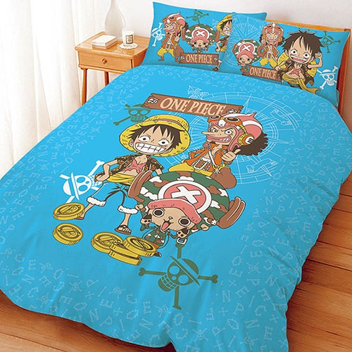 ~One Piece 航海王海賊王尋寶之路系列~單人雙人床包組被套涼被兩用被枕套 卡通 華