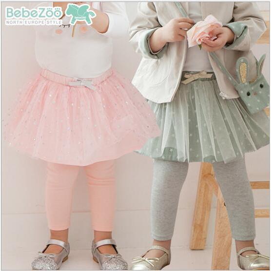 韓國Bebezoo 甜美蝴蝶結紗裙褲裙內搭褲打底褲長褲