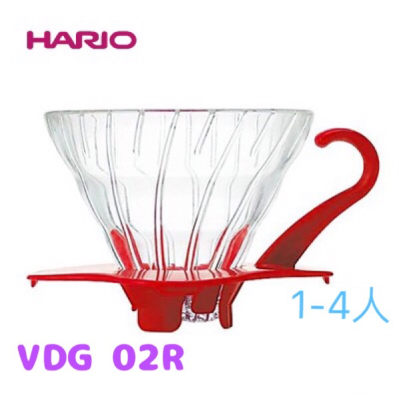 ஐ珈琲倉ஐHARIO VDG 02 R V60 玻璃濾杯1 4 杯