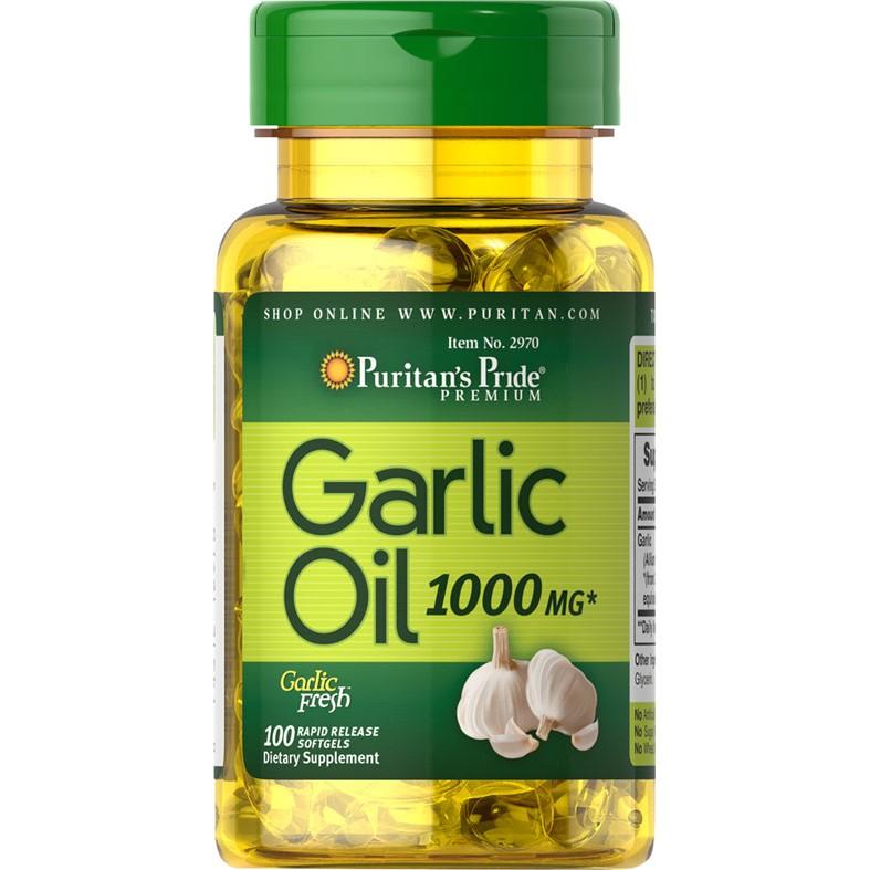 黑白賣Puritan s Pride Garlic 大蒜油1000 毫克100 軟凝膠軟膠