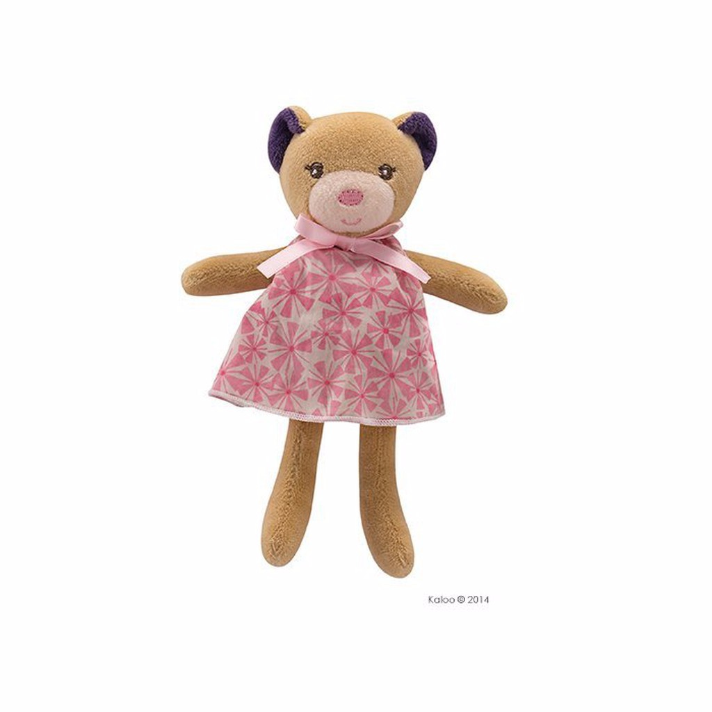 🌟正版🌟【 法國 Kaloo 】 PETITE ROSE BEAR 直立印花熊 迷你安撫玩偶