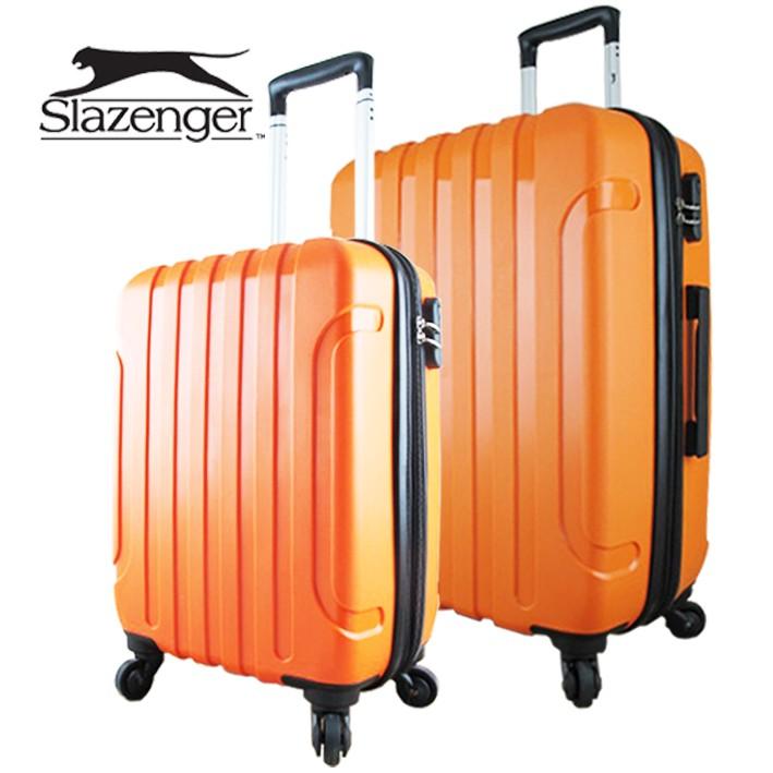 英國Slazenger 史萊辛格駭客直條紋20 24 兩件套行李箱拉桿箱