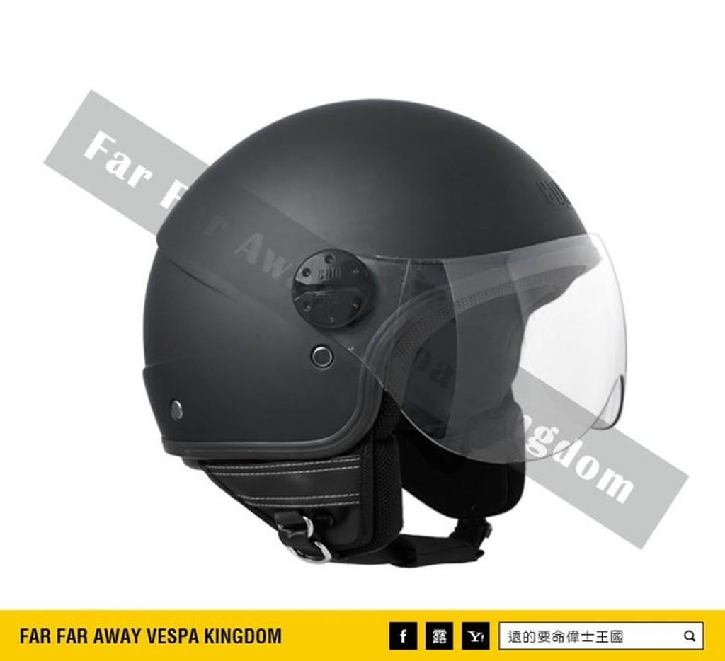 遠的要命偉士王國Vespa CGM 安全帽Florida 4 3 半罩式義大利廠牌消光黑G