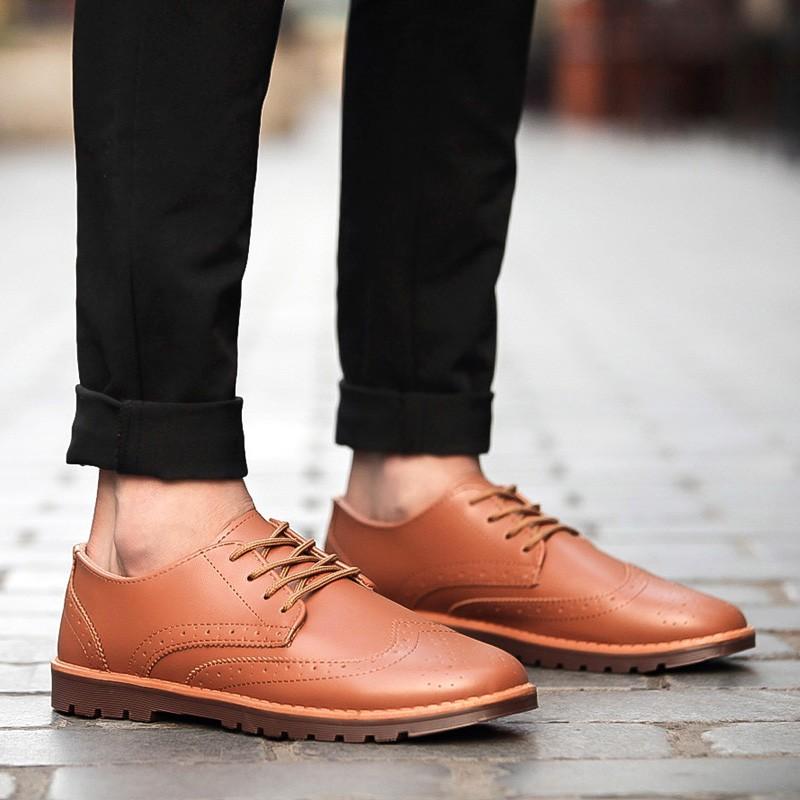 休閒鞋男士英倫皮鞋男布洛克潮流男鞋子板鞋青年豆豆潮鞋圓頭高跟鞋單鞋豆豆鞋涼鞋懶人鞋
