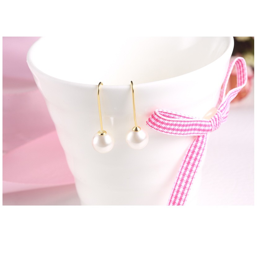925 純銀抗過敏 耳環韓國官網同步太陽的後裔宋慧喬同款珍珠耳針