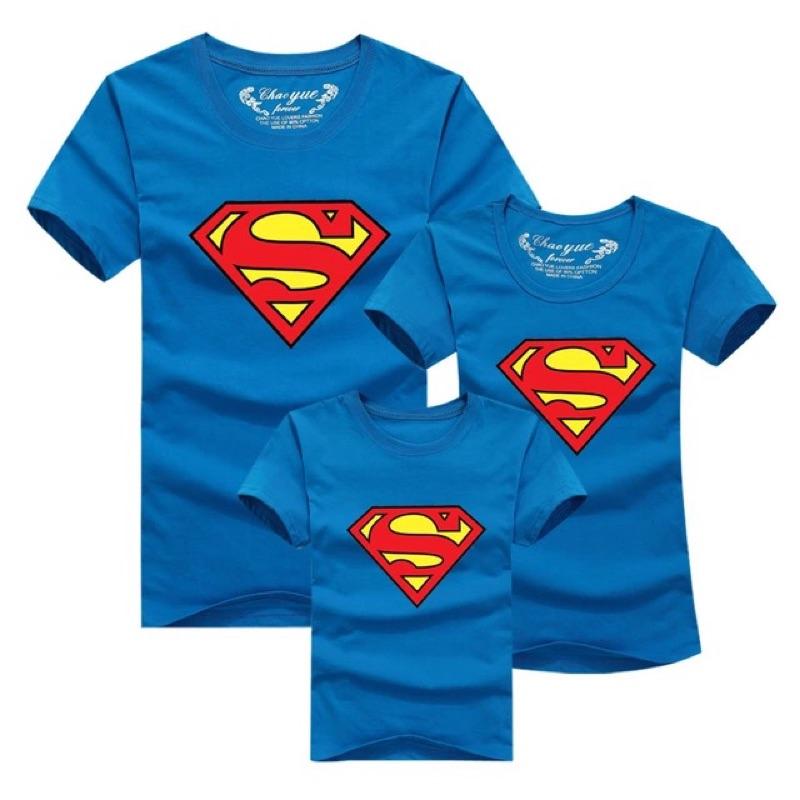 親子裝夏裝2016 一家超人情侶短袖家庭套裝母子母女 t 恤衫