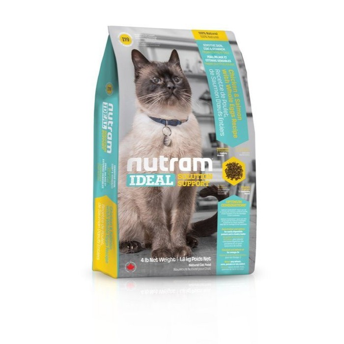 紐頓nutram 理想系列I19 三效強化貓雞肉鮭魚配方1 8KG