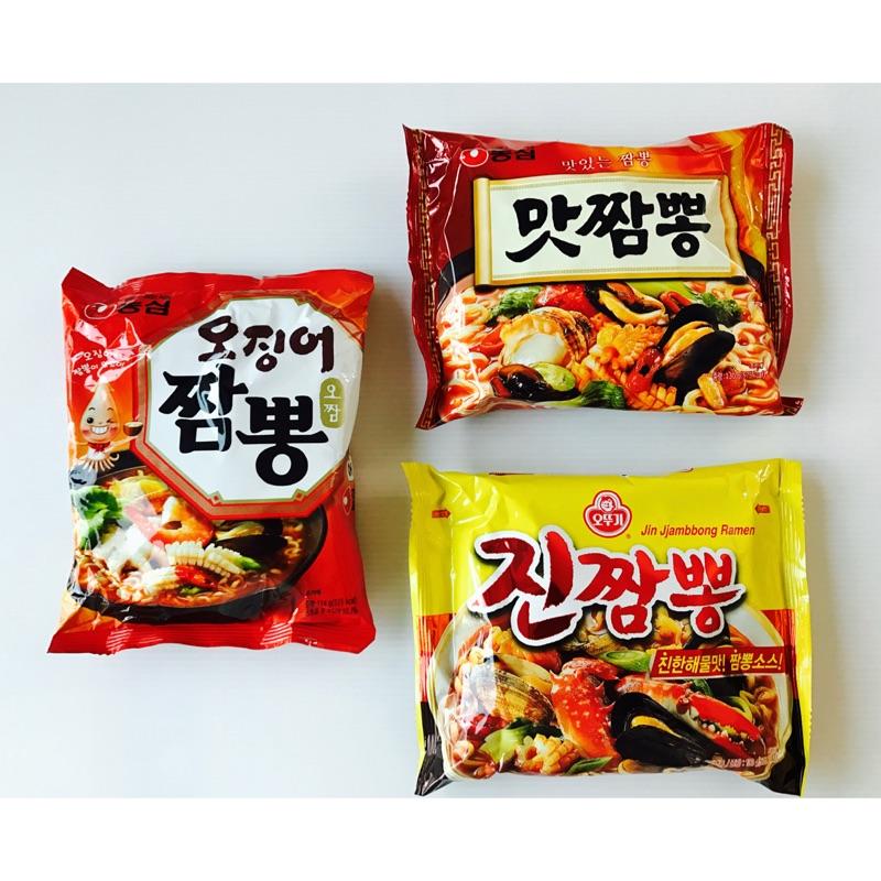韓國炒碼麵~3 包 ~農心好味道海鮮炒碼麵130g 魷魚炒碼風味麵124g 不倒翁真炒碼麵