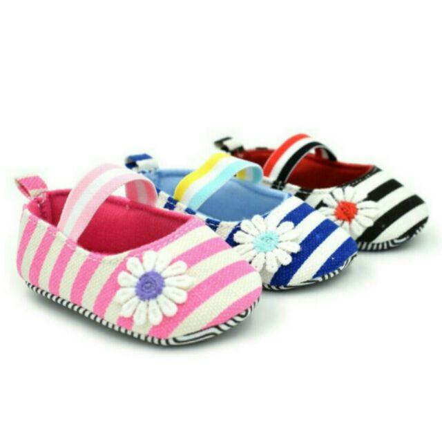浪漫海軍風條紋寶寶學步鞋