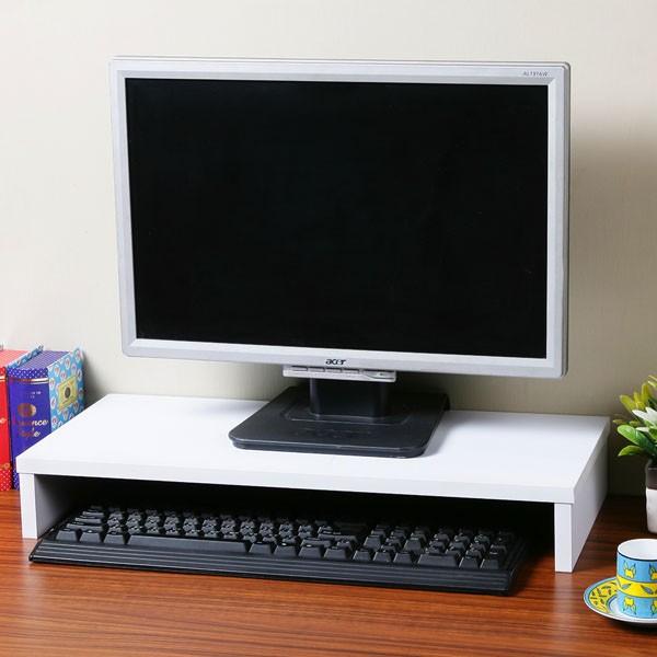 簡約桌上螢幕架白色書架螢幕架收納架桌上架~Yostyle 家居~