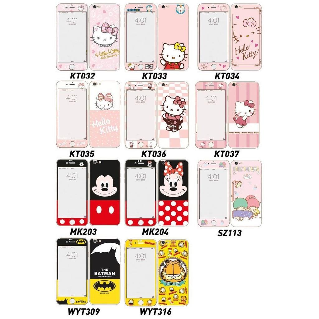 閃粉凱蒂貓正反面玻璃貼iphone6 plus 玻璃保護貼正反面玻璃貼iphone5 米奇