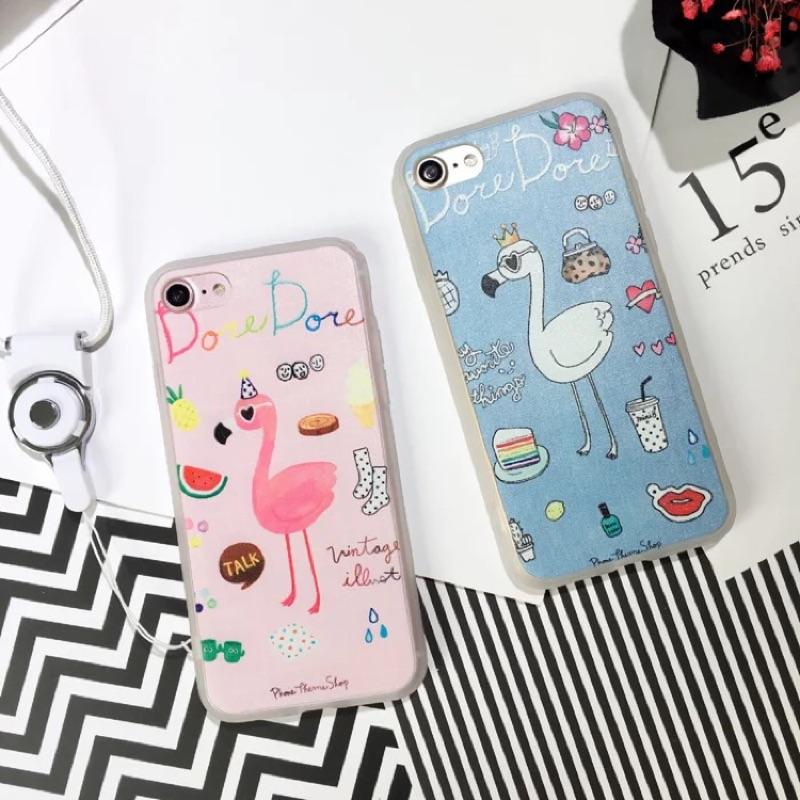 韓國火烈鳥phone7 7plus 手機殼蘋果6S plus 磨砂全包軟殼手機殼4 7 新