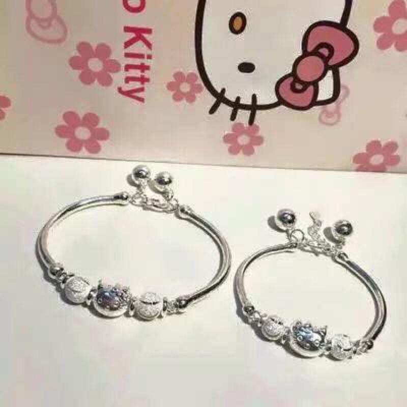 大量 ~精美盒裝~可愛的Hello Kitty 親子銀手鍊✨✨