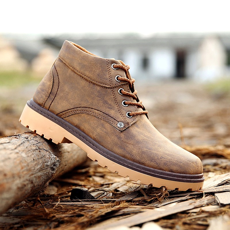 卓越數碼專營店馬丁靴男靴真皮靴子男士沙漠靴英倫風短靴馬丁鞋工裝鞋男鞋工裝靴