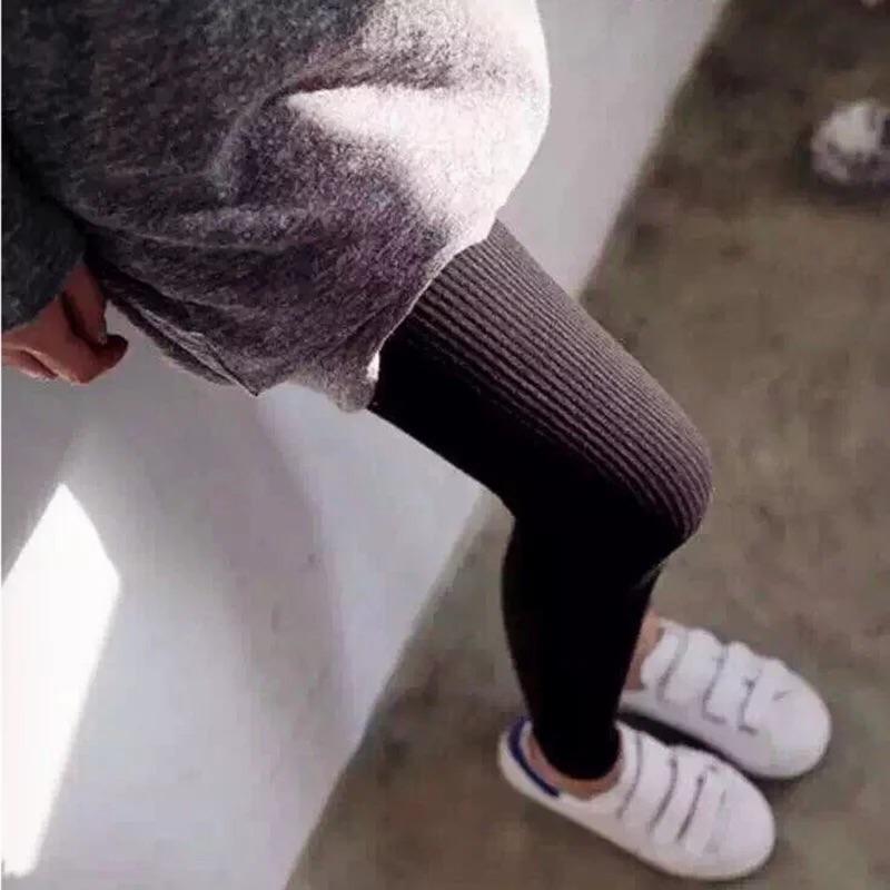 Hi Shop 11 7 ✨螺紋顯瘦直條紋內搭褲合身褲打底褲