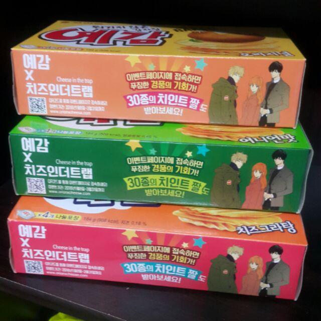韓國好麗友預感洋芋片,大盒,原味,起司,洋蔥,一盒4 小包