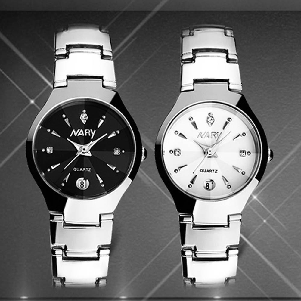 豪華女式手錶日曆石英不銹鋼日期腕錶