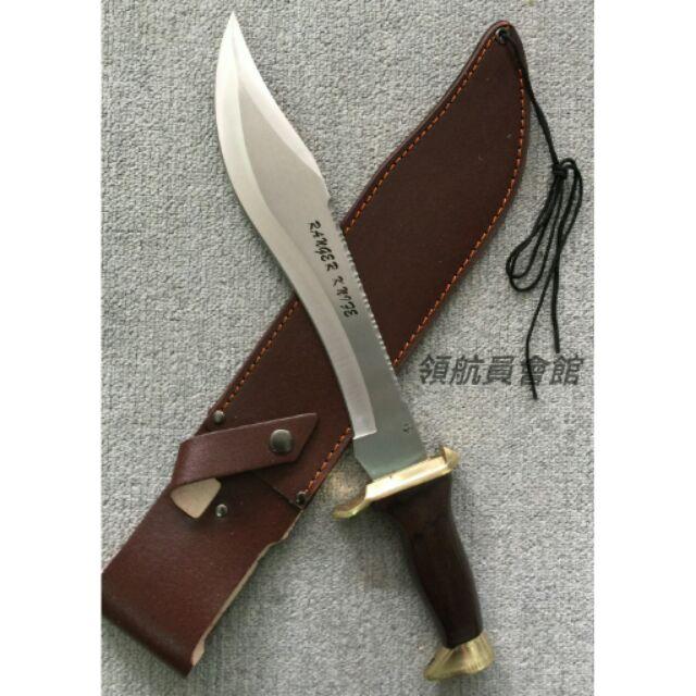 1002 西班牙大獵刀利齒刀背附腰掛皮刀套