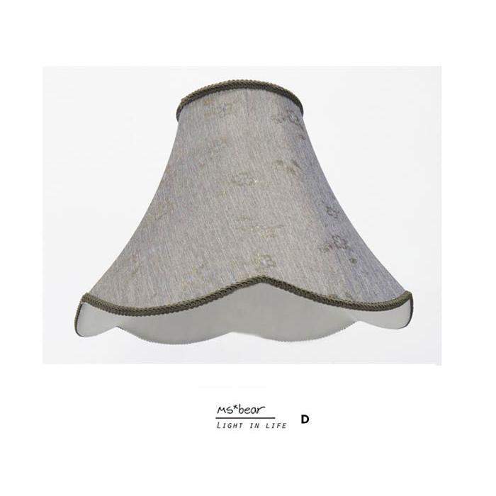 Ms bear 古典灰色雙色刺繡雙層燈罩檯燈台燈桌燈立燈燈罩燈具零件玻璃燈罩床頭桌燈床頭燈