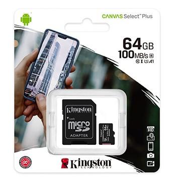 Kingston 金士頓 64G 100MB/s UHS-I microSDXC 記憶卡 SDCS2/64G