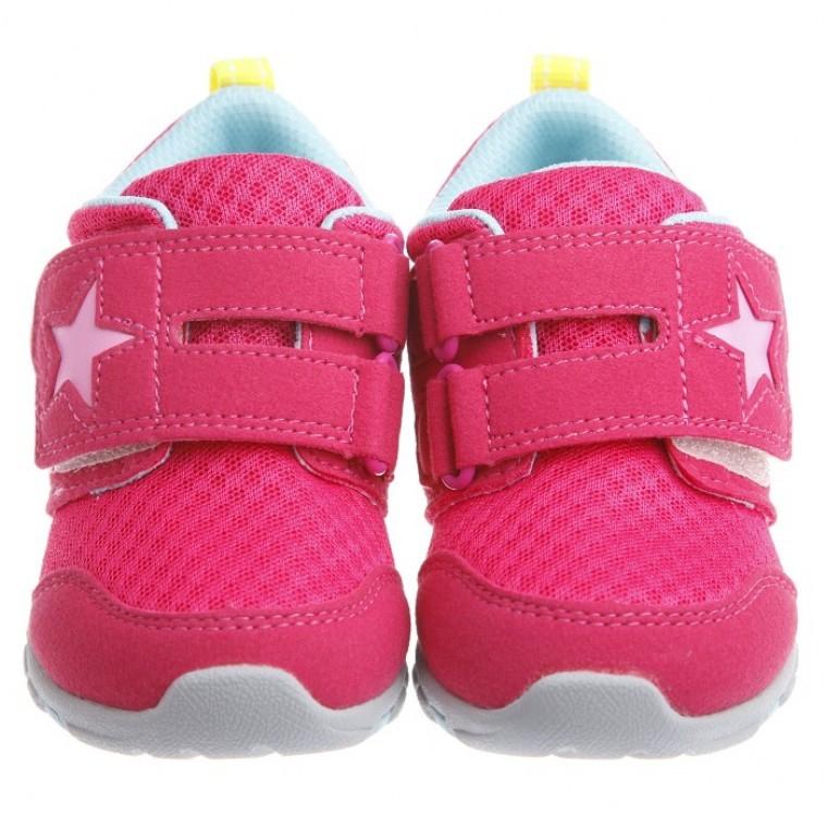 Moonstar 桃蜜星星透氣止滑 機能鞋15 21 公分