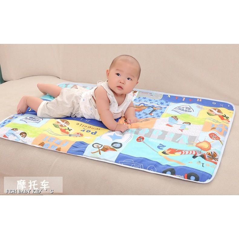 母嬰用品寶寶純棉隔尿墊嬰兒防水隔尿床墊加厚夾棉款30 45