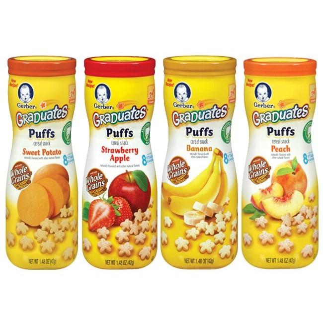 美國Gerber 嘉寶星星餅乾 貨地瓜香蕉草莓蘋果水蜜桃