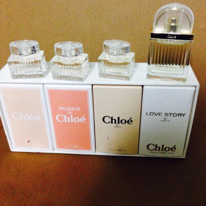 正品Chloe 同名女性淡香精love story 玫瑰隨身小香水旅行組花香5ml 7ml