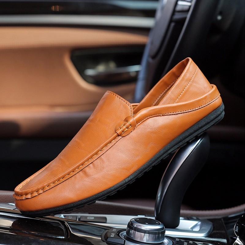 蝦皮最熱商務休閒男鞋簡約 春秋皮鞋男式駕車豆豆鞋懶人一脚蹬單鞋蝦皮最低