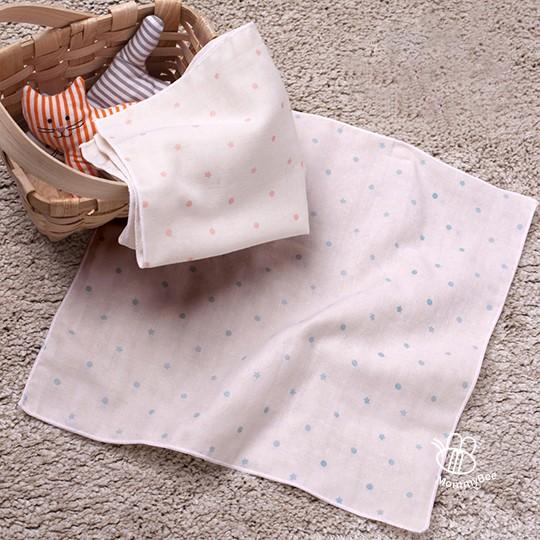 二入有機棉口水巾(星星點點兩色)加厚加大款