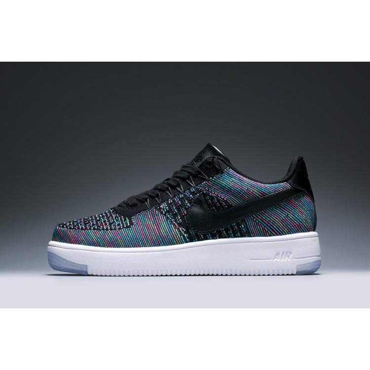 Nike Air Force 1 Flyknit 2016 空軍低筒編織休閒鞋男女鞋黑五彩