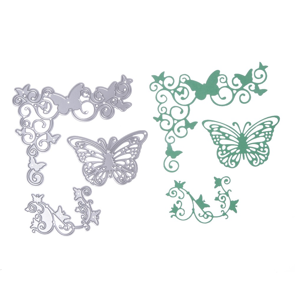 家居用品3 片蝴蝶剪紙卡刀模DIY scr pbook 製作模具